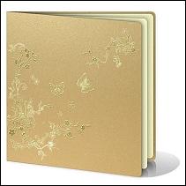 Perleťově zlaté svatební oznámení vzor 059_03_01 s motýlky