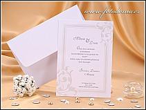 Svatební oznámení ve formě velké bílé obdélníkové karty vzor 0851