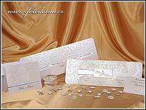 Luxusní perleťové svatební oznámení s předávací obálkou vzor 0872