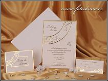 Trojdílné originální svatební oznámení ve formě karty vzor 0875