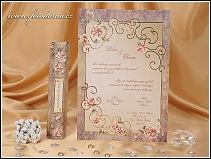 Svatební oznámení ve formě obdélníkové květinami zdobené listiny vzor 0879