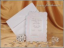 Luxusní svatební oznámení s motýlky vzor 0883