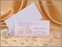 Svatební oznámení se zlatými motýlky vzor 0885