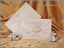 Svatební oznámení vyrobené ze zlatavě perleťového papíru vzor 0890