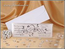 Netradiční svatební oznámení ve fólii se stříbrnou výzdobou vzor 0896