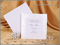 Velké čtvercové svatební oznámení vzor 0899