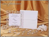 Svatební oznámení s průhledným rámečkem s rostlinnými motivy vzor 0914