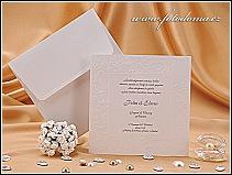Čtvercové svatební oznámení vzor 0917