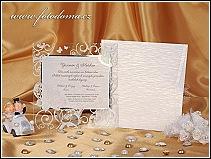 Svatební oznámení s motýlem na průhledném rámečku vzor 0919