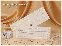 Svatební oznámení se zlatou výzdobou vzor 0920