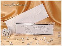 Svatební oznámení s průhledným rámečkem vzor 0921