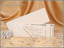 Svatební oznámení vyrobené ze strukturovaného polokartonu žlutě chamois odstínu vzor 0922