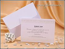Obdélníkové svatební oznámení ve formě karty vzor 0926