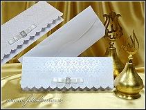 Otevírací svatební oznámení z tuhého bílého matného polokartonu vzor 0959