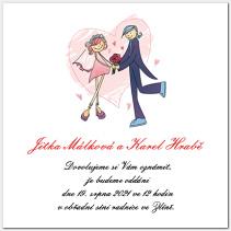 Svatební oznámení s novomanželi 1005.