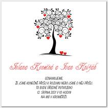 Svatební oznámení se svatebním stromem 1007.
