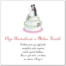 Svatební oznámení se svatebním dortem 1014.