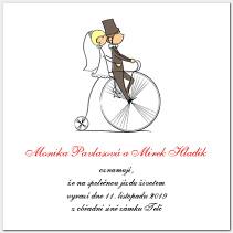 Svatební oznámení cyklistické 1015.