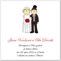 Svatební oznámení s novomanžely 1017.