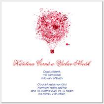 Svatební oznámení s balónem 1020.