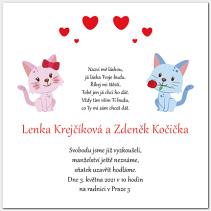 Svatební oznámení s kočkami 1024.