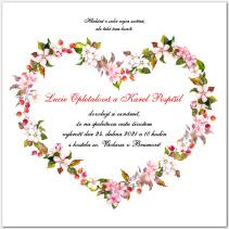 Svatební oznámení se šípky a květy 1058