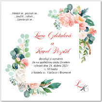Svatební oznámení s růžemi 1061