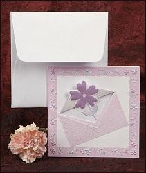 Fialovo růžové svatební oznámení vzor 2356