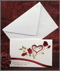 Svatební oznámení vzor 2395 s růžemi