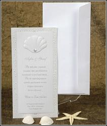 Svatební oznámení vzor 2420 s mušlí