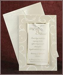 Svatební oznámení vzor 2435 s mašličkou