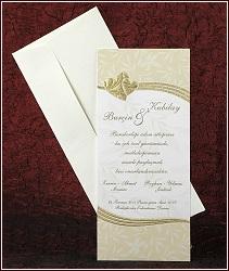 Svatební oznámení vzor 2439 se zlatými srdíčky