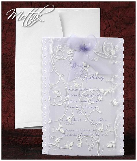 Svatební oznámení 2447 fialové