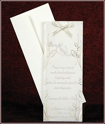 Svatební oznámení vzor 2461 s mašličkou