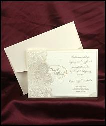 Svatební oznámení vzor 2496 s růžemi