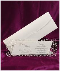 Zkosené svatební oznámení vzor 2500 s průhlednou kartou
