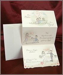 Kreslené svatební oznámení vzor 2505