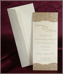 Svatební oznámení vzor 2508 s ražbou