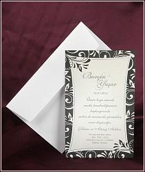 Bílo černé svatební oznámení vzor 2517