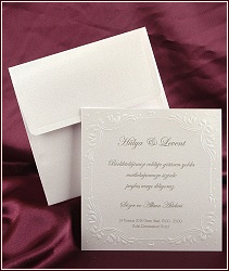 Čtvercové svatební oznámení vzor 2524