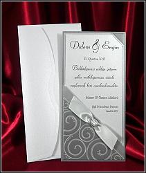 Stříbřité svatební oznámení vzor 2534