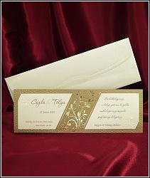 Zlatavé svatební oznámení vzor 2535