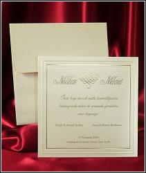 Jednodílné čtvercové svatební oznámení 2541.