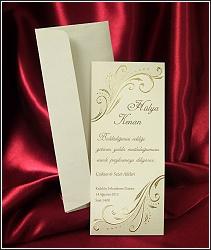 Zlatě ražené svatební oznámení vzor 2543