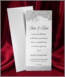 Stříbrem ražené svatební oznámení vzor 2544