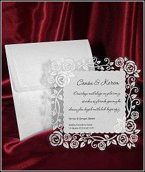 Svatební oznámení vzor 2545 s průhlednou fólií