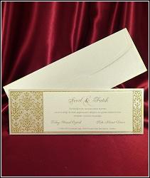 Dvoudílné svatební oznámení 2553 podlouhlého tvaru.