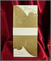 Zlaté svatební oznámení 2555