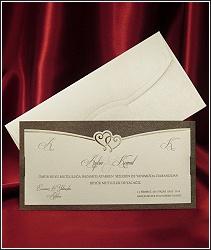 Svatební oznámení vzor 2560 se zlatými srdíčky