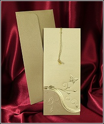 Zlatě zdobené svatební oznámení vzor 2563